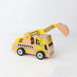 El mejor precio de regalo de Navidad de madera artesanía excavadora Vehículo de juguete para niños