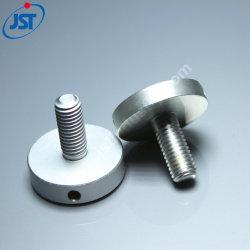 Bouton en aluminium à usinage CNC fait sur mesure avec trou de positionnement