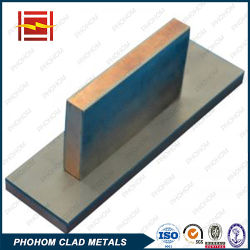 Vêtu d'explosifs Three-Layer Titanium-Copper-Bar de l'électrode en acier