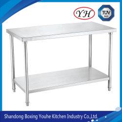 Опускное стекло передней двери из нержавеющей стали рабочий стол с ящиками Splash Back/рабочий стол из нержавеющей стали