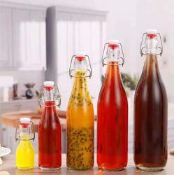 60ml 250ml 500ml 750ml 1000ml löschen leere Beverge trinkende Glasflasche mit Schwingen-Oberseite
