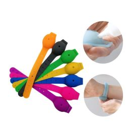 최신 신식 조정가능한 재사용할 수 있는 손 소독제 실리콘 소맷동 팔찌 주문 로고 제정성 실리콘 소맷동