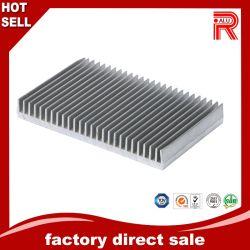 OEM personalizadas em alumínio de alumínio de extrusão de construção de material de construção e perfis para o dissipador de calor