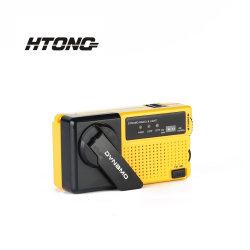 Dual Channel Dynamo AM/FM Mini Radio avec des voyants LED