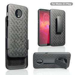 Motorola Z3 Play용 Kickstand 케이스가 내장된 콤보 홀스터
