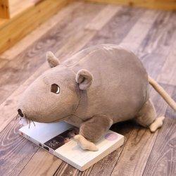 2020 3D-модель мыши мыши Plushy Super Soft Мягкие плюшевые игрушки кукла Rat Мягкая игрушка животных Peluche талисман Новый год подарком