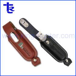 Populaires stick USB en cuir pour cadeau