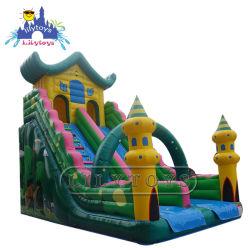 Haltbares aufblasbares Haus-Plättchen für Kind-Unterhaltung, aufblasbares Thema, das Schloss für Kinder, grüne Qualität auf Land-Plättchen aufprallt