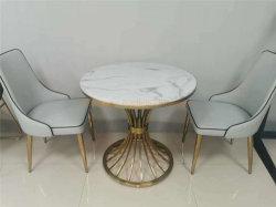 Table à manger moderne blanc Hôtel petite table à café de meubles en marbre