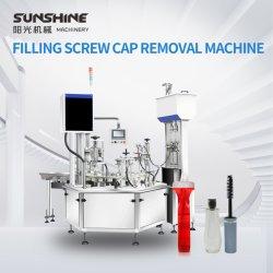 Garrafa de líquido automática essência Cosméticos Esmalte de unha Brilho Labial loções enchendo Capping e Remoção da Máquina Tudo em Um