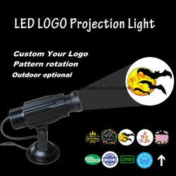 Proiettore esterno LED del Gobo di rotazione della proiezione su ordinazione di marchio che fa pubblicità all'indicatore luminoso