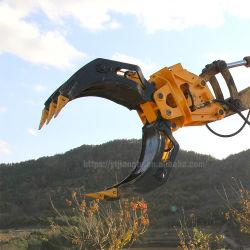 Double rotation hydraulique du vérin de pierre Journal Grab Grab pince en bois pour 3tonne 5tonne 12tonne de 20 tonnes tonnes tonnes 25excavateur 30/Digger