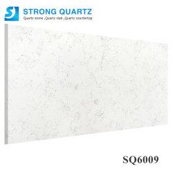 Guang Dong China Carrara/Calacatta White Artificial/Engineered Quartz Stone Slab