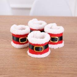 Decoraciones de Navidad Navidad Corona Servilleta hebilla del cinturón de hebilla del cinturón de Navidad Nuevo conjunto de la servilleta suministros Artes Creativas