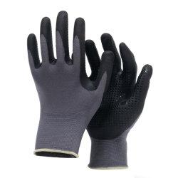 Indicador de 15 de Nylon/Spandex de nitrilo de camisa de trabajo Micro-Foam Jardín seguridad puntos de guantes de Palm