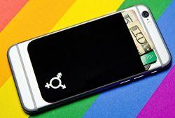 Lycra ÉLASTIQUES Élastiques Téléphone cellulaire Wallet titulaire de carte de crédit de cas ID Pocket Stick