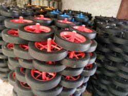 Roue de roue gonflable pied ROUE CHARIOT Barbecue brouette voiture Roue en caoutchouc Roue universelle 14*4
