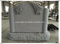 Ventes en gros de la Chine usine sculpture en granit gris Coût de pierres tombales des prix de base