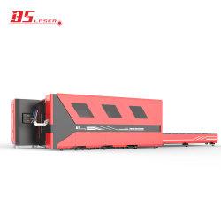 prix d'usine jointe Machine de découpe laser à fibre avec l'échange de table de travail