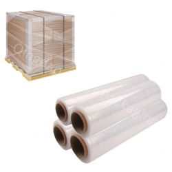 Di pellicola di stirata popolare dell'involucro LLDPE del pallet del materiale da imballaggio del Cile 17/20/23 mic X 500mm