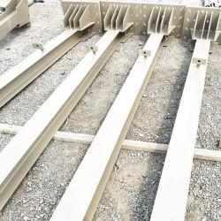 Stahllager-Dach-Halle-Stahlgitter-Spalte mit Grundplatte