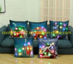 クリスマスシリーズ安い卸し売りカスタムホーム装飾犬LEDの軽い枕
