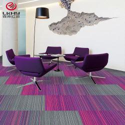 Fabricante de China precios baratos de PVC Polipropileno fábrica llanura Sala alfombras alfombra alfombras Hotel mosaico alfombra alfombra de la Oficina Comercial de azulejos de mosaico