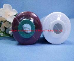 100% gesponnen polyestergaren 50s/3 Zwart op verven buis