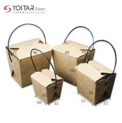 Jetables en papier kraft de pâtes alimentaires à emporter Boîtes Boîte à lunch des boîtes de nouilles