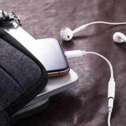 De mayor venta de auriculares Jack de 3,5 mm macho Rayo Ios 10/11/12 Sólo Audio auricular USB para iPhone 7 8 X Plus Adaptador