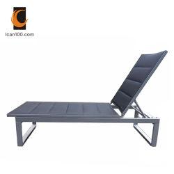 American Standard châssis en aluminium de plein air Textilene chaises pliantes en rotin Chaise longue (je peux-60001AT)