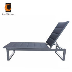 Norma Americana Textilene aluminio exterior Rattan sillas plegables chaise lounge (puedo-60001en)