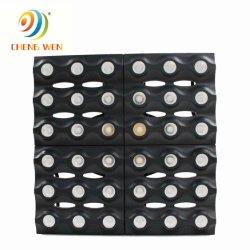 36pcs aluminio LED 3W 6*6 matriz de diodos LED de luz dorada