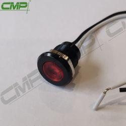 Лампа сигнала черного цвета 12мм в диаметре. Сигнальная лампа металла с проводом