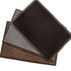 Polyester-Gewebe Kurbelgehäuse-Belüftung, das doppelte Streifen-und Ananas-Tür-Matte unterstützt