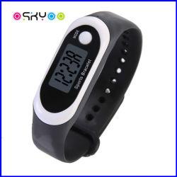 presente de promoção de desportos de Silicone Bracelete relógio de pulso digital podômetro