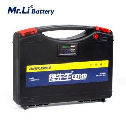 Sr Li 12V Bateria Recarregável 12V 35AH de Elevada Potência da Bateria de lítio para a lâmpada de Emergência Exterior Fonte de alimentação com 80A BMS Board