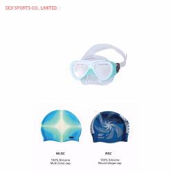 Dex는 아이들의 인간 공학 디자인 잠수 가면 수영 모자 한 벌을 주문을 받아서 만들었다