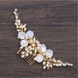 Formato de flores Fashion Pearl jóias de casamento de acessórios de cabelo