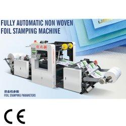 Lámina caliente automática máquina de estampado para Material Nonweven