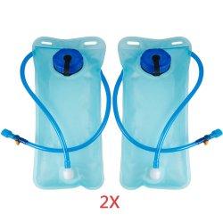 L'hydratation de la vessie de l'eau 2 Pack 2L TPU Sac de cyclisme pour les sports d'Escalade Randonnée pédestre Camping Blue