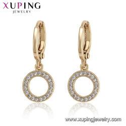 La mode Crystal Huggie Gold-Plated Commerce de gros Les femmes Hoop Huggie Earring Bijoux