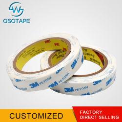 Adhésif acrylique double face tissu ruban mousse de PE de bande PVC