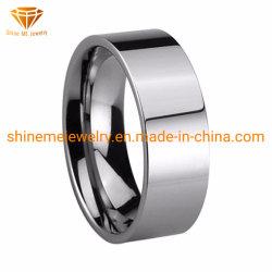 Usine de gros de bijoux de tungstène de 8 mm bague de mariage de tungstène poli tst2852