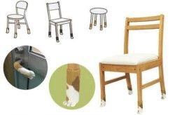 O OEM 4 PCS/Definir Slip Cartoon Bonitinha Kitty Cadeira Mobiliário Perna da tampa de proteção