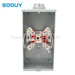 Phase unique 200 AMP Watthour la douille de base électrique