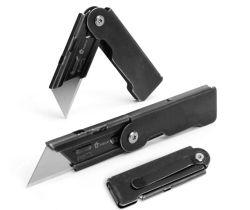 Pack de 2 couteaux de poche de pliage de l'utilitaire, lame de changement rapide, de verrouillage de trame, EDC Case avec clip de ceinture de la faucheuse, Stone washed