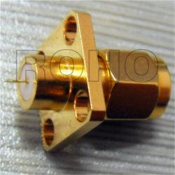 4개의 구멍 플랜지 RF 동축 커넥터를 가진 SMA 남성