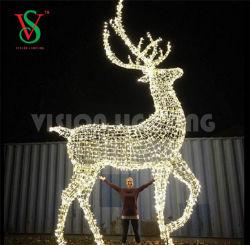Outdoor Grote kerst 3D LED Reindeer Lights te koop