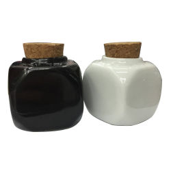 Pequenos recipientes de armazenagem seladas Square Recipiente de cerâmica arte de unhas Acessórios